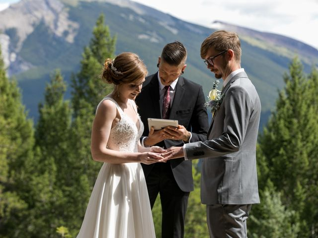 Brent and Emma's wedding in Canmore, Alberta 19