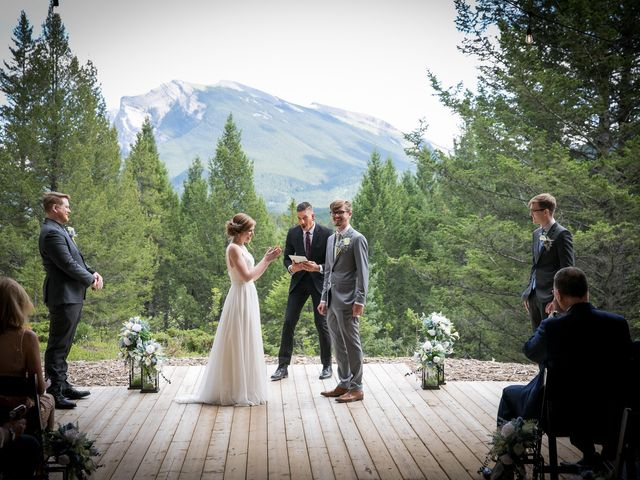 Brent and Emma's wedding in Canmore, Alberta 21
