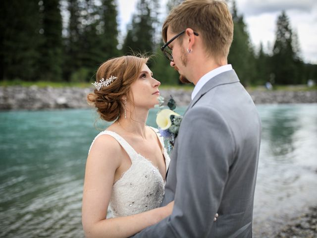 Brent and Emma's wedding in Canmore, Alberta 30