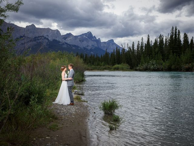Brent and Emma's wedding in Canmore, Alberta 33