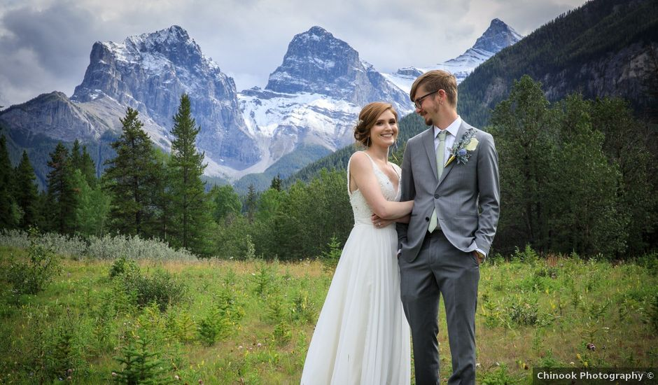 Brent and Emma's wedding in Canmore, Alberta