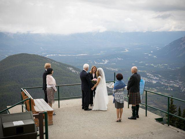 Lucia and Gordon's wedding in Banff, Alberta 16