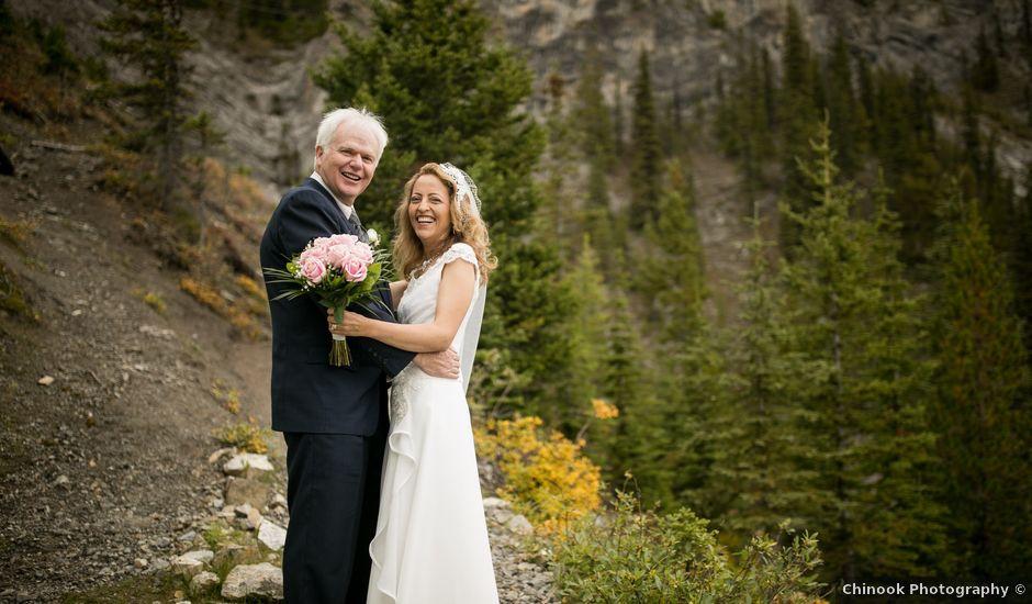 Lucia and Gordon's wedding in Banff, Alberta
