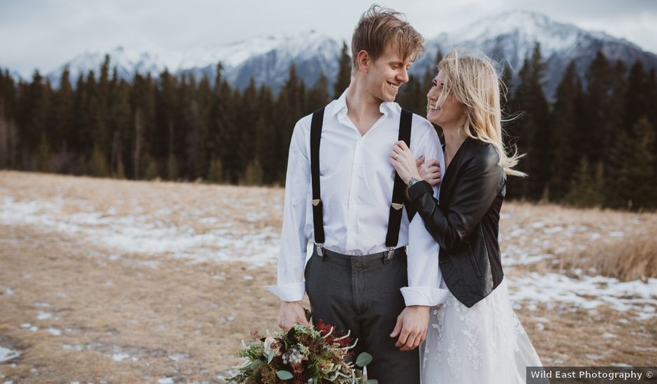 Keith and Alicia's wedding in Canmore, Alberta