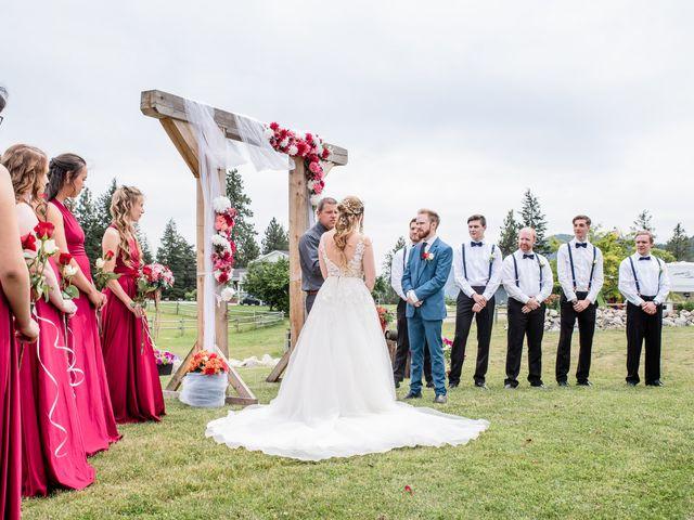 Nick and Josephine's wedding in Peachland, British Columbia 12
