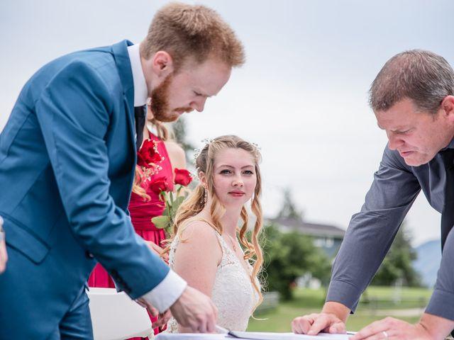 Nick and Josephine's wedding in Peachland, British Columbia 16