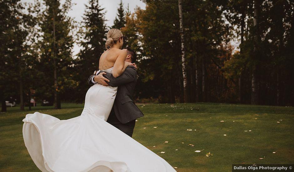 Dan and Katrina's wedding in Sylvan Lake, Alberta