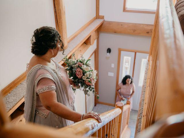 Colin and Rupi's wedding in Scotch Creek, British Columbia 12