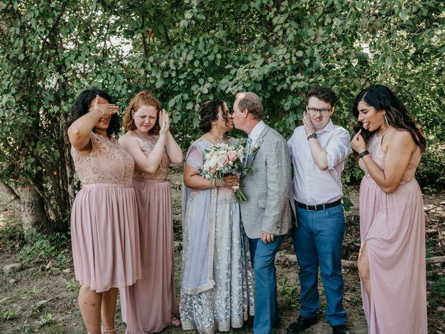 Colin and Rupi's wedding in Scotch Creek, British Columbia 1