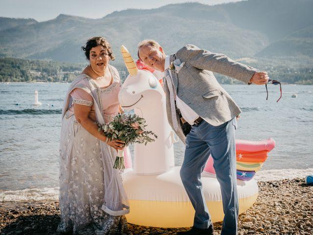 Colin and Rupi's wedding in Scotch Creek, British Columbia 2