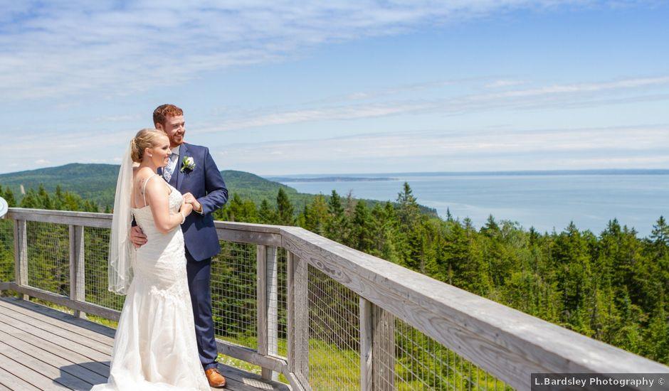 Andrew and Emily's wedding in Alma, New Brunswick