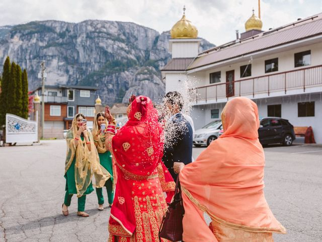 Bikram and Mandy's wedding in Squamish, British Columbia 41