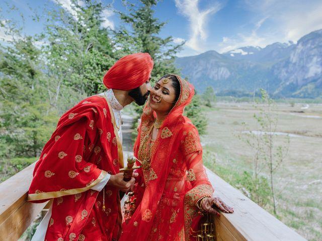 Bikram and Mandy's wedding in Squamish, British Columbia 1