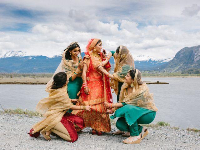 Bikram and Mandy's wedding in Squamish, British Columbia 44