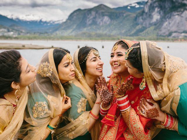 Bikram and Mandy's wedding in Squamish, British Columbia 45