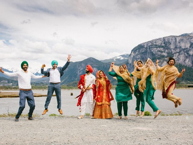 Bikram and Mandy's wedding in Squamish, British Columbia 49