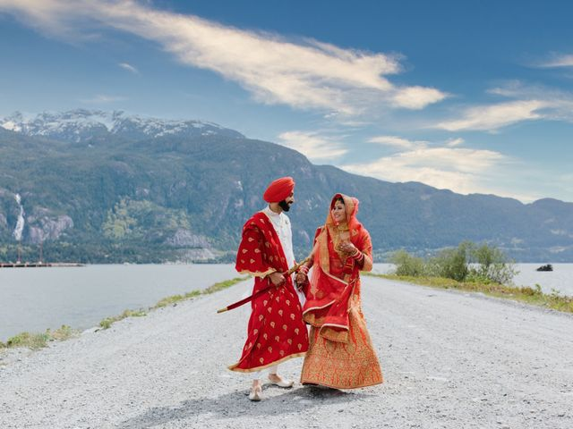 Bikram and Mandy's wedding in Squamish, British Columbia 50