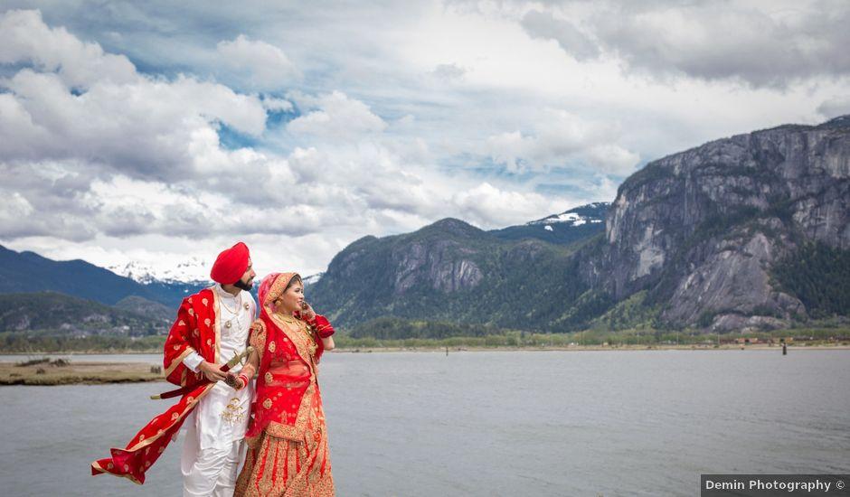 Bikram and Mandy's wedding in Squamish, British Columbia