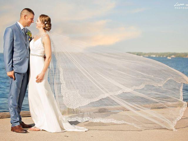 Trevor and Brittany's wedding in Belle Ewart, Ontario 1