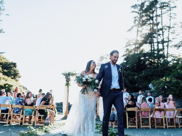 James and Tiffany's wedding in Tofino, British Columbia 1