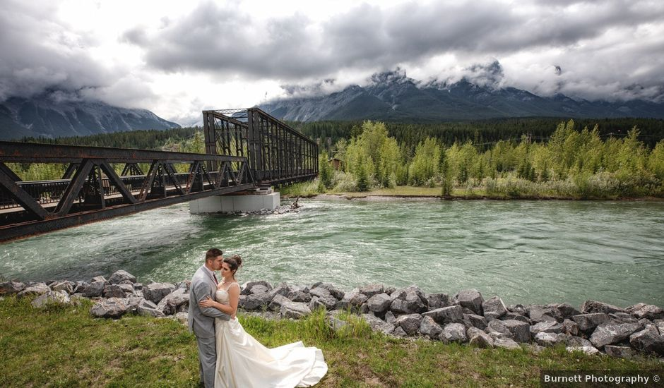 Garrett and Shelby's wedding in Canmore, Alberta