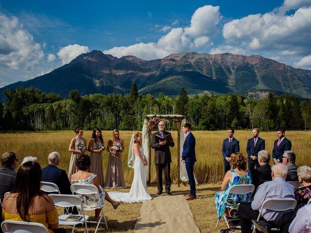 Matt and Erica's wedding in Cranbrook, British Columbia 2