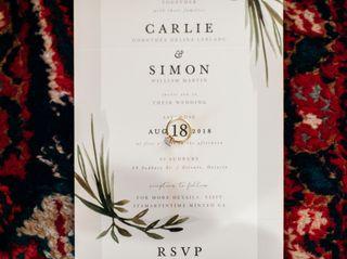 The wedding of Carlie and Simon 1