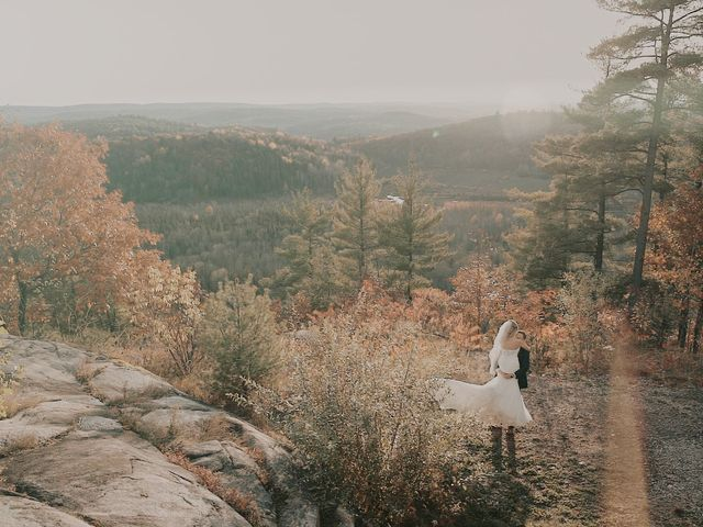 Matthew and Catherine's wedding in Wakefield, Quebec 1