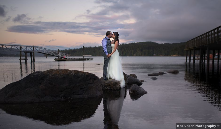 Rich and Ashlee's wedding in Sooke, British Columbia