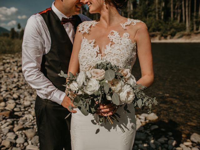 Adam and Sara's wedding in Fernie, British Columbia 1