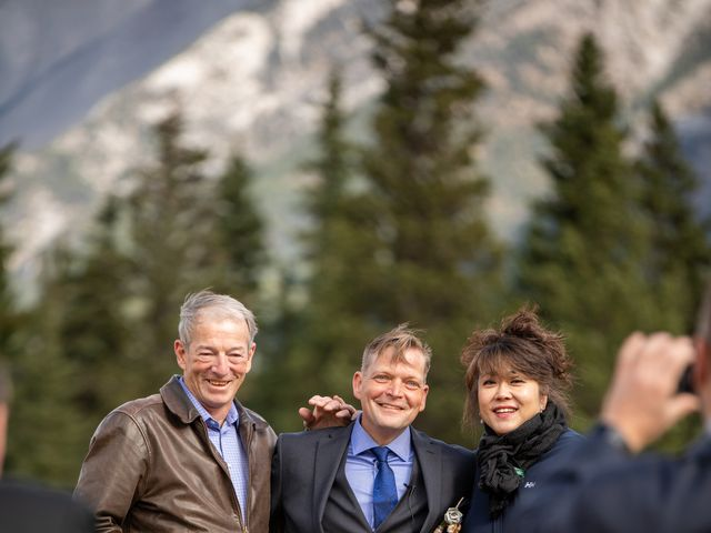 Gregg and Kristina's wedding in Canmore, Alberta 22