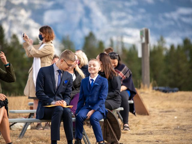 Gregg and Kristina's wedding in Canmore, Alberta 26