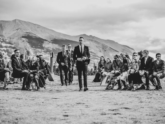 Gregg and Kristina's wedding in Canmore, Alberta 27