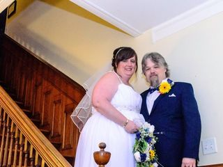 The wedding of April  and Bradley
