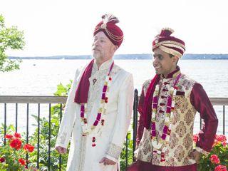 The wedding of Vinod and Wayne