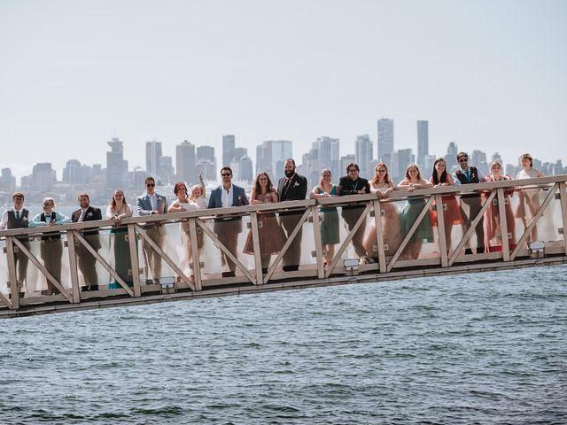 Aaron Golden and Breanne Fultz's wedding in Vancouver, British Columbia 14