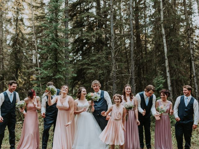Michael and Gabrielle's wedding in Edson, Alberta 1
