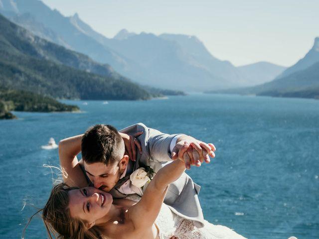 Clive and Shiana's wedding in Waterton Park, Alberta 1