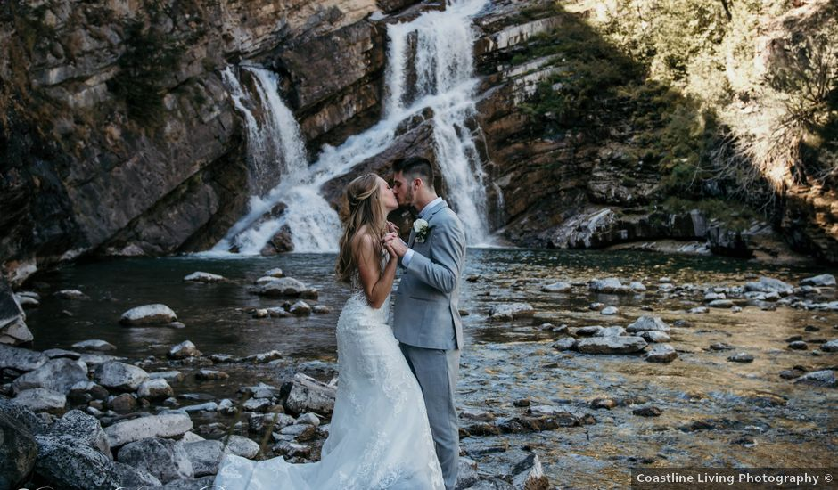 Clive and Shiana's wedding in Waterton Park, Alberta