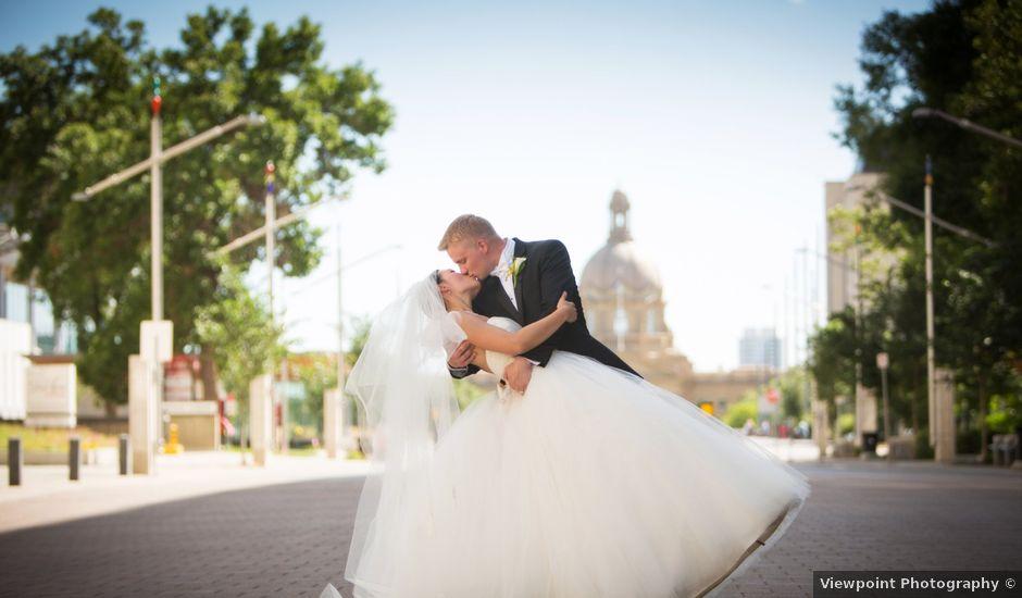 Denzil and Jessica's wedding in Edmonton, Alberta