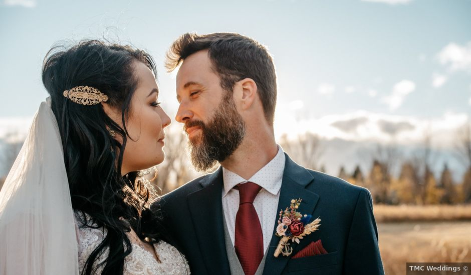 Kalia and Chad's wedding in Calgary, Alberta