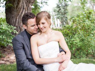 The wedding of Eldon and Helen