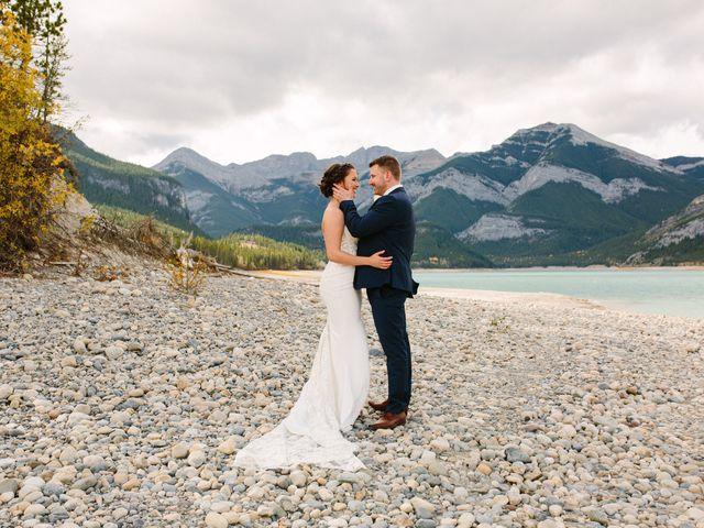 Josh and Jena's wedding in Kananaskis, Alberta 1