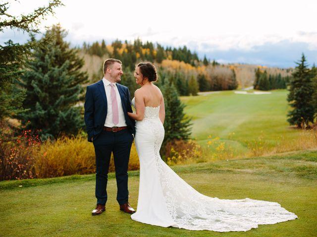 Josh and Jena's wedding in Kananaskis, Alberta 28
