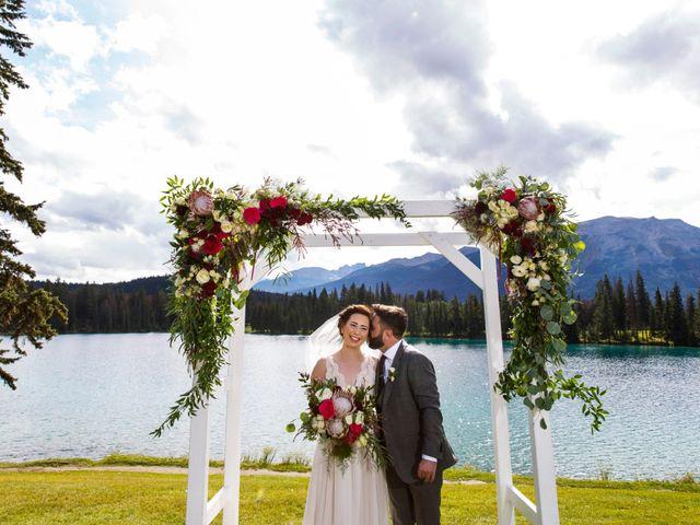 Braden and Jade's wedding in Jasper, Alberta 14