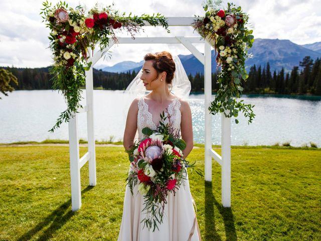 Braden and Jade's wedding in Jasper, Alberta 16