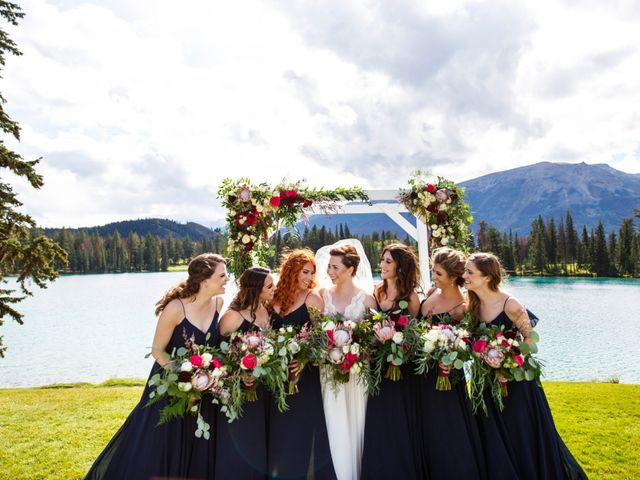 Braden and Jade's wedding in Jasper, Alberta 18