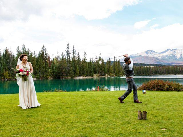 Braden and Jade's wedding in Jasper, Alberta 21