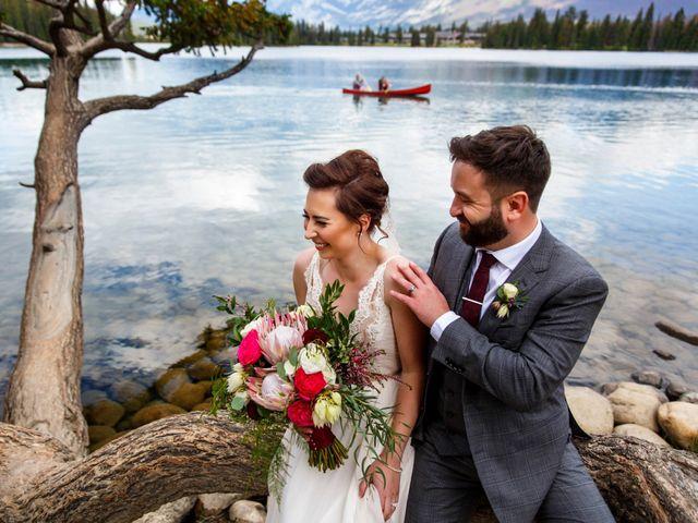 Braden and Jade's wedding in Jasper, Alberta 27