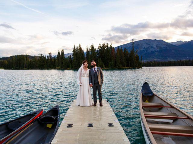 Braden and Jade's wedding in Jasper, Alberta 40